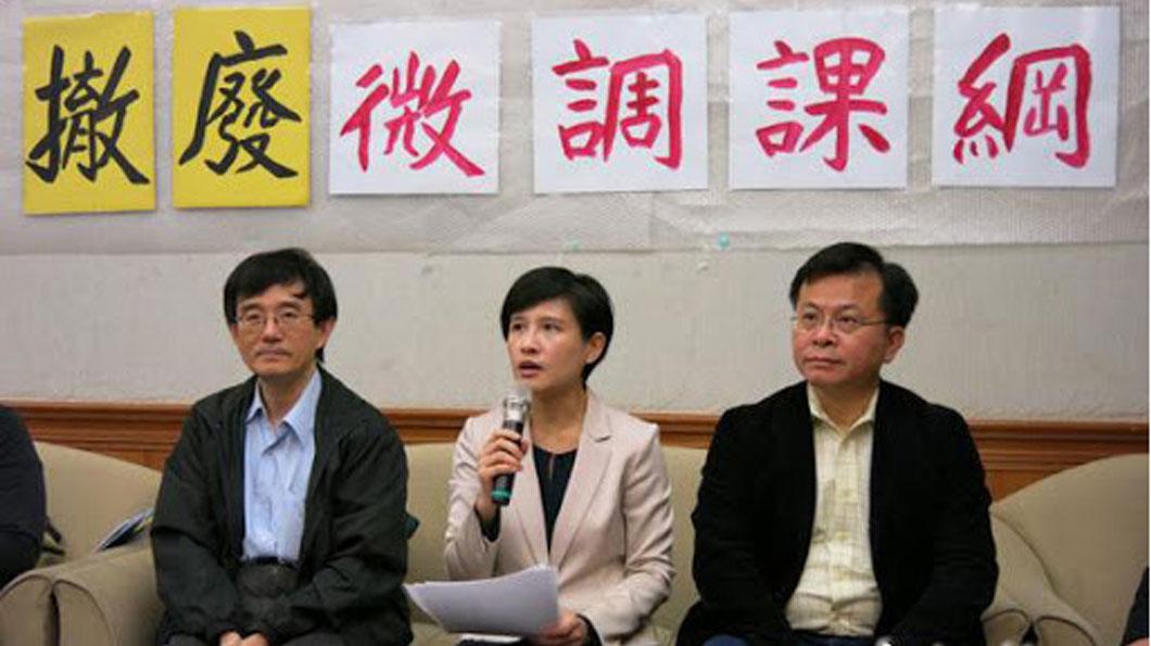 2016年4月18日,民進黨立委鄭麗君出席臺灣教育深耕聯盟的撤廢微調課綱記者會。此前,鄭麗君和65位立委提案要求撤回微調課綱。