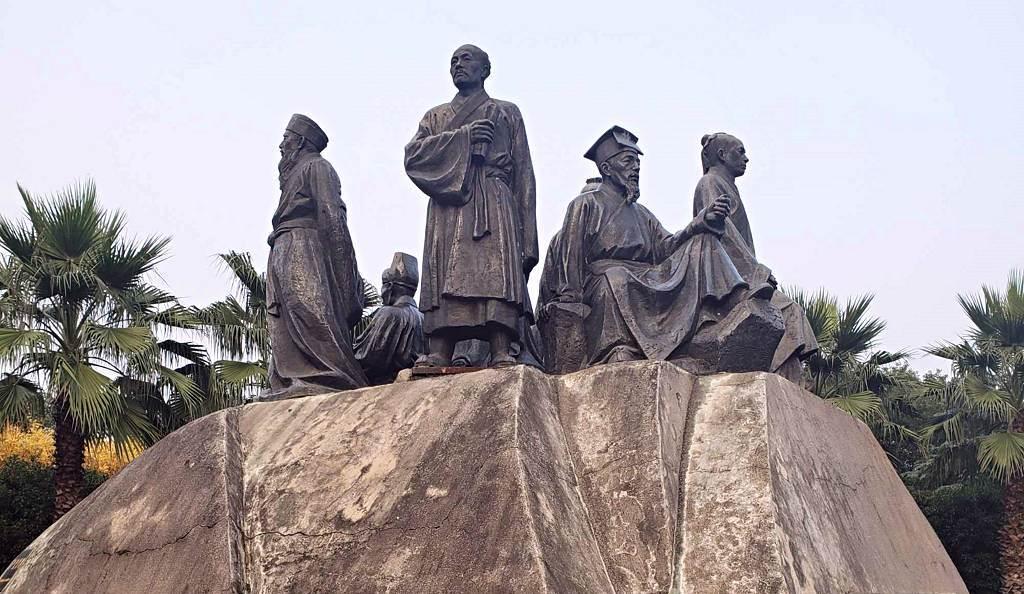 石鼓書院「七賢」塑像
